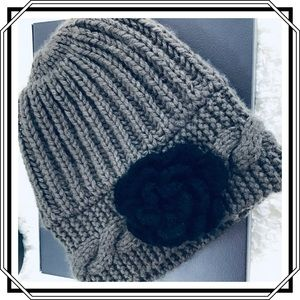 Knit Hat with Kit Flower